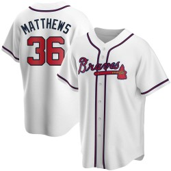 Gary Matthews Atlanta Braves Men's Replica Home Jersey - White