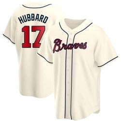 Glenn Hubbard Atlanta Braves Men's Replica Alternate Jersey - Cream
