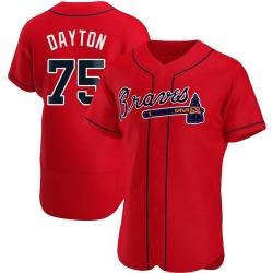 Grant Dayton Atlanta Braves Men's Authentic Alternate Jersey - Red