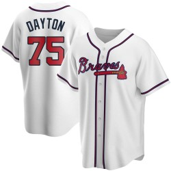 Grant Dayton Atlanta Braves Men's Replica Home Jersey - White