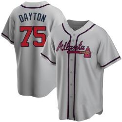Grant Dayton Atlanta Braves Men's Replica Road Jersey - Gray