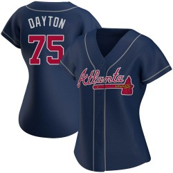 Grant Dayton Atlanta Braves Women's Authentic Alternate Jersey - Navy