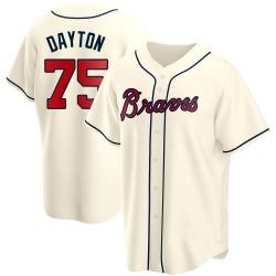 Grant Dayton Atlanta Braves Youth Replica Alternate Jersey - Cream