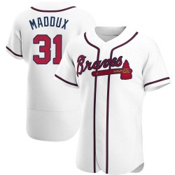 Greg Maddux Atlanta Braves Men's Authentic Home Jersey - White