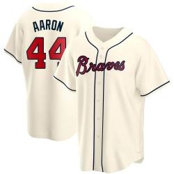 Hank Aaron Atlanta Braves Youth Replica Alternate Jersey - Cream