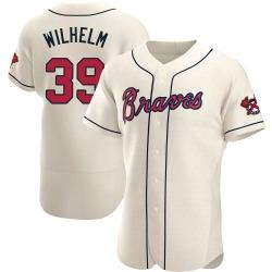 Hoyt Wilhelm Atlanta Braves Men's Authentic Alternate Jersey - Cream