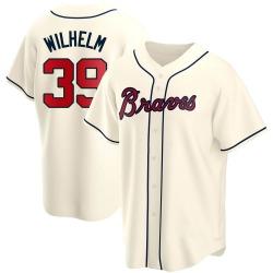 Hoyt Wilhelm Atlanta Braves Men's Replica Alternate Jersey - Cream