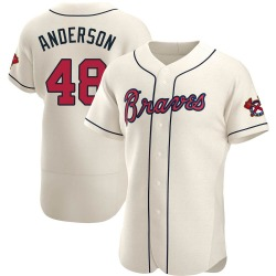 Ian Anderson Atlanta Braves Men's Authentic Alternate Jersey - Cream