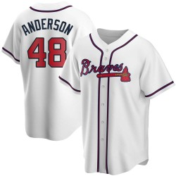 Ian Anderson Atlanta Braves Youth Replica Home Jersey - White