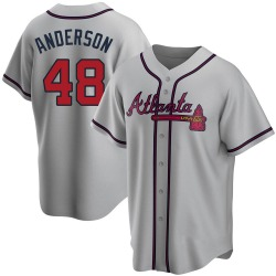 Ian Anderson Atlanta Braves Youth Replica Road Jersey - Gray