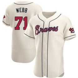 Jacob Webb Atlanta Braves Men's Authentic Alternate Jersey - Cream
