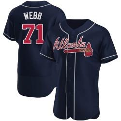 Jacob Webb Atlanta Braves Men's Authentic Alternate Jersey - Navy