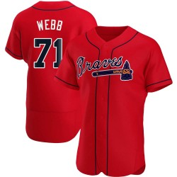 Jacob Webb Atlanta Braves Men's Authentic Alternate Jersey - Red