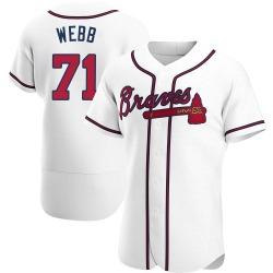 Jacob Webb Atlanta Braves Men's Authentic Home Jersey - White