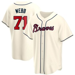 Jacob Webb Atlanta Braves Youth Replica Alternate Jersey - Cream