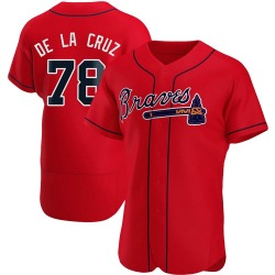 Jasseel De La Cruz Atlanta Braves Men's Authentic Alternate Jersey - Red