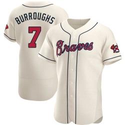 Jeff Burroughs Atlanta Braves Men's Authentic Alternate Jersey - Cream