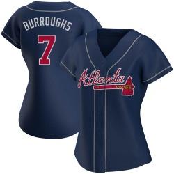 Jeff Burroughs Atlanta Braves Women's Replica Alternate Jersey - Navy