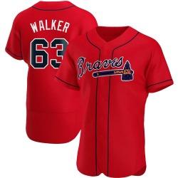 Jeremy Walker Atlanta Braves Men's Authentic Alternate Jersey - Red