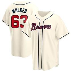 Jeremy Walker Atlanta Braves Men's Replica Alternate Jersey - Cream