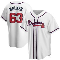 Jeremy Walker Atlanta Braves Men's Replica Home Jersey - White