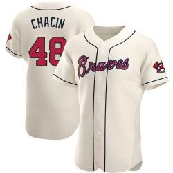 Jhoulys Chacin Atlanta Braves Men's Authentic Alternate Jersey - Cream