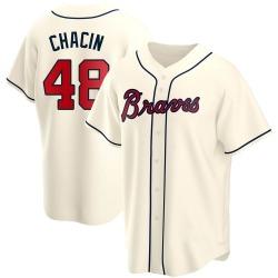 Jhoulys Chacin Atlanta Braves Men's Replica Alternate Jersey - Cream
