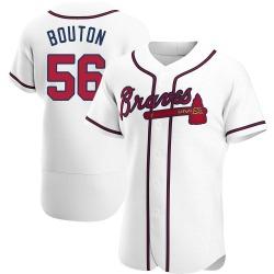 Jim Bouton Atlanta Braves Men's Authentic Home Jersey - White