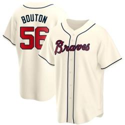 Jim Bouton Atlanta Braves Men's Replica Alternate Jersey - Cream