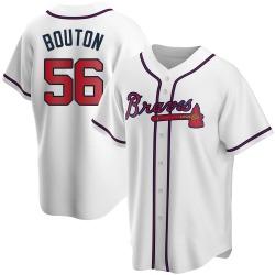Jim Bouton Atlanta Braves Men's Replica Home Jersey - White