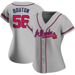 Jim Bouton Atlanta Braves Women's Authentic Road Jersey - Gray