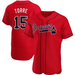 Joe Torre Atlanta Braves Men's Authentic Alternate Jersey - Red