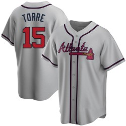 Joe Torre Atlanta Braves Men's Replica Road Jersey - Gray