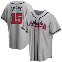 Joe Torre Atlanta Braves Youth Replica Road Jersey - Gray