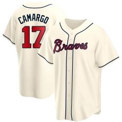 Johan Camargo Atlanta Braves Youth Replica Alternate Jersey - Cream