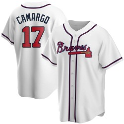 Johan Camargo Atlanta Braves Youth Replica Home Jersey - White