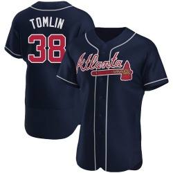 Josh Tomlin Atlanta Braves Men's Authentic Alternate Jersey - Navy