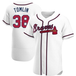 Josh Tomlin Atlanta Braves Men's Authentic Home Jersey - White