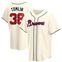 Josh Tomlin Atlanta Braves Men's Replica Alternate Jersey - Cream