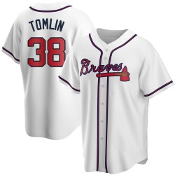 Josh Tomlin Atlanta Braves Youth Replica Home Jersey - White