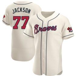 Luke Jackson Atlanta Braves Men's Authentic Alternate Jersey - Cream