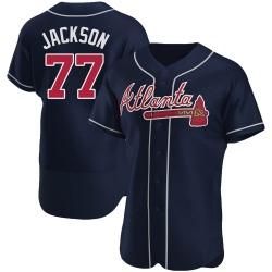 Luke Jackson Atlanta Braves Men's Authentic Alternate Jersey - Navy