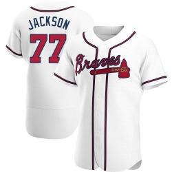 Luke Jackson Atlanta Braves Men's Authentic Home Jersey - White