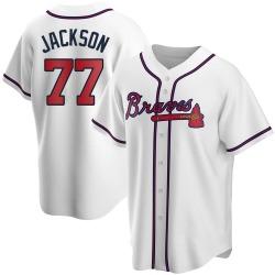 Luke Jackson Atlanta Braves Men's Replica Home Jersey - White