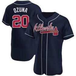 Marcell Ozuna Atlanta Braves Men's Authentic Alternate Jersey - Navy