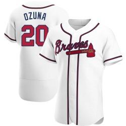 Marcell Ozuna Atlanta Braves Men's Authentic Home Jersey - White