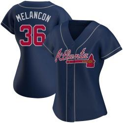 Mark Melancon Atlanta Braves Women's Authentic Alternate Jersey - Navy