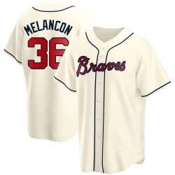 Mark Melancon Atlanta Braves Youth Replica Alternate Jersey - Cream