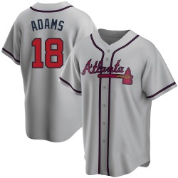 Matt Adams Atlanta Braves Youth Replica Road Jersey - Gray