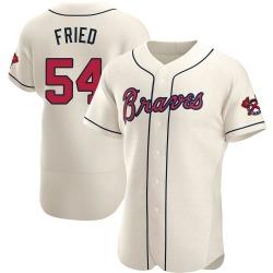 Max Fried Atlanta Braves Men's Authentic Alternate Jersey - Cream